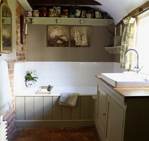 French country bathroom design ideas short hairstyle 2013 for Country bathroom ideas