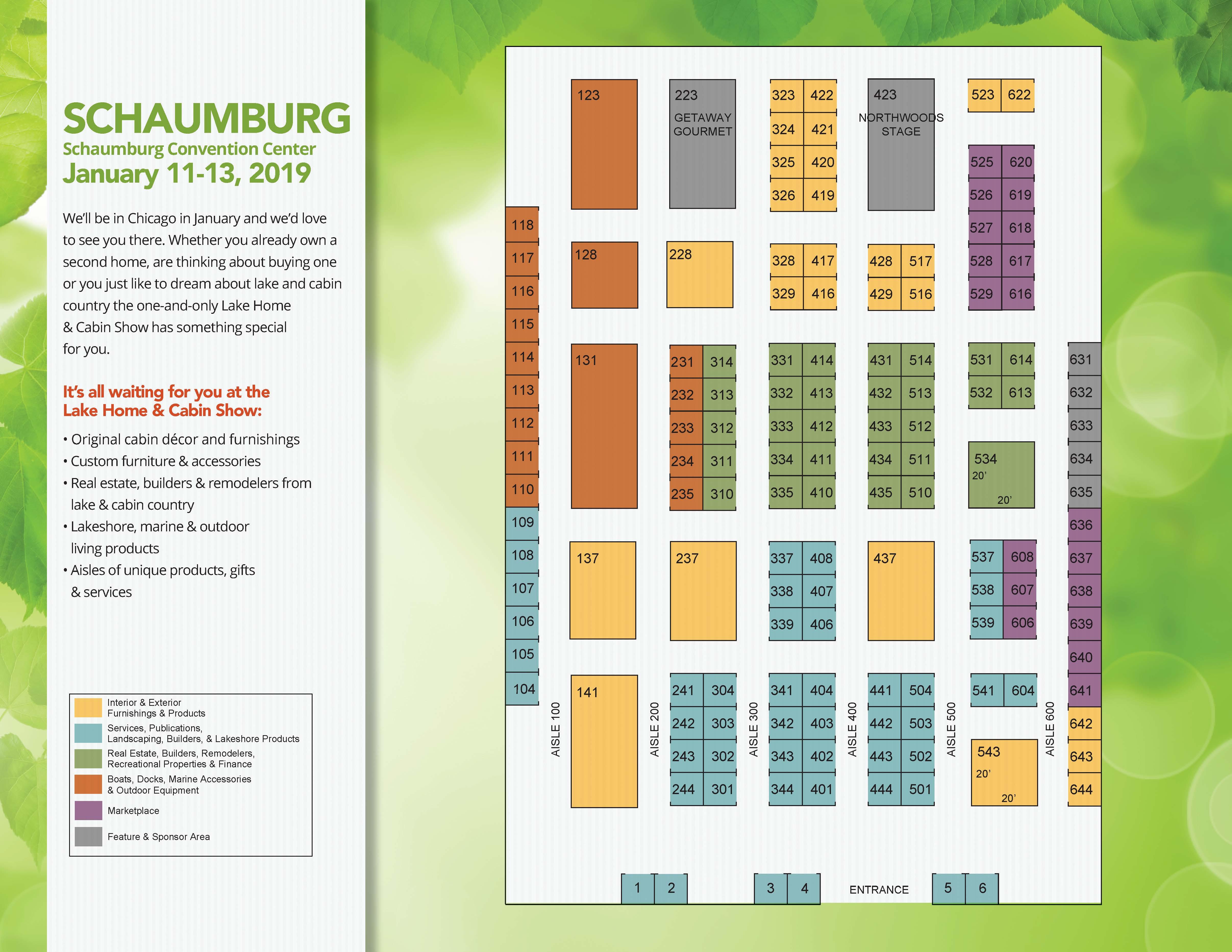 Minneapolis Convention Center Floor Plan: Lake Home & Cabin Show